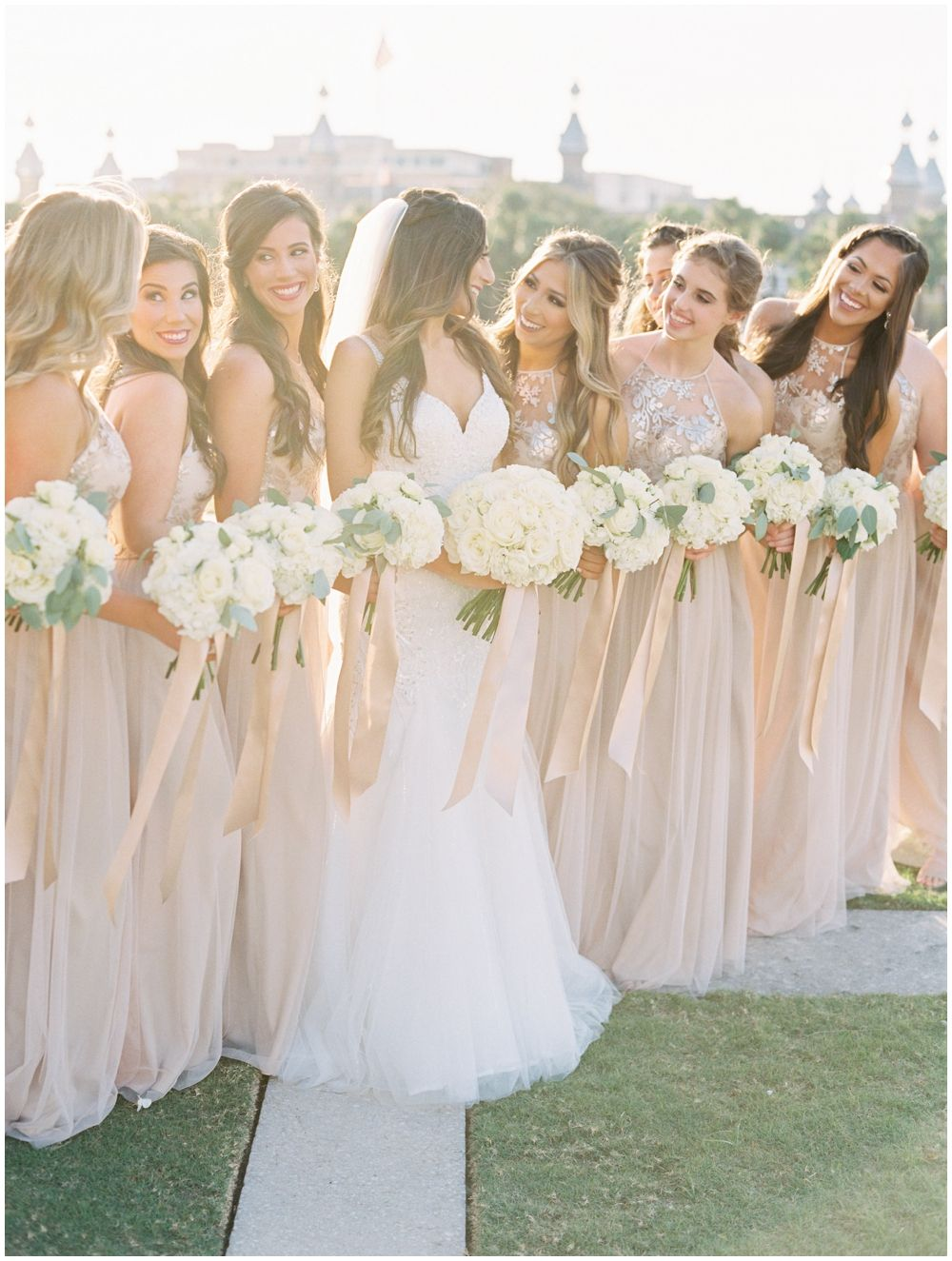 Bride And Bridesmaids Bouquets Downtown Tampa Wedding Rentals Tampa Downtown Wedding Wedding Wedding Rental Company