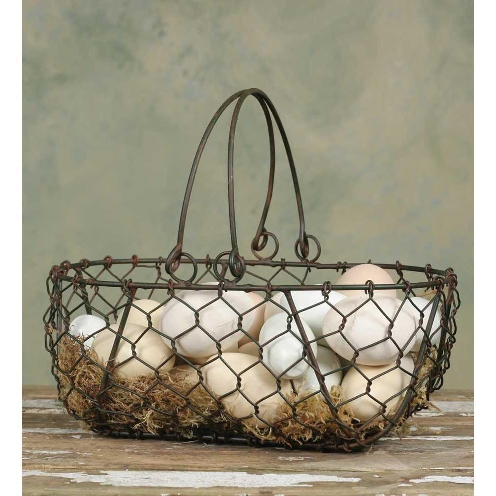 Gathering Basket - Wire Egg Basket images