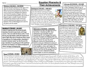 tutankhamun achievements