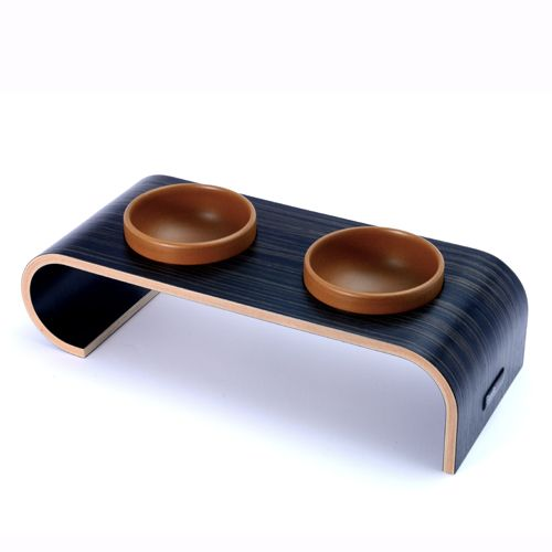 Havana Designer Elevated Dog Bowl Brown