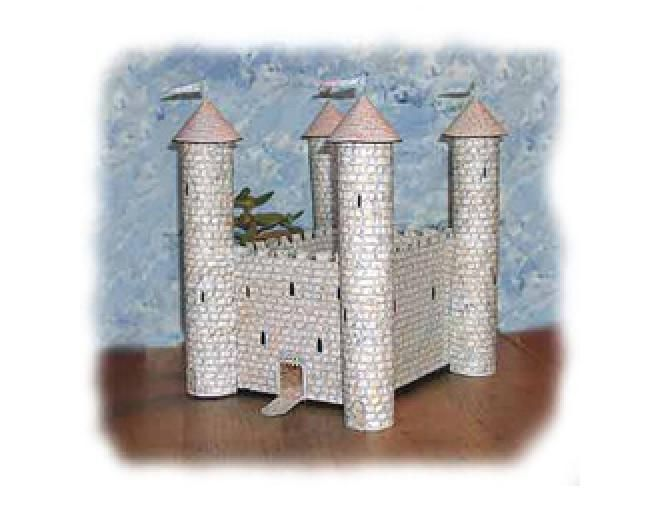 Castles made out of cardboard tubes simple castle for for Castle made out of cardboard