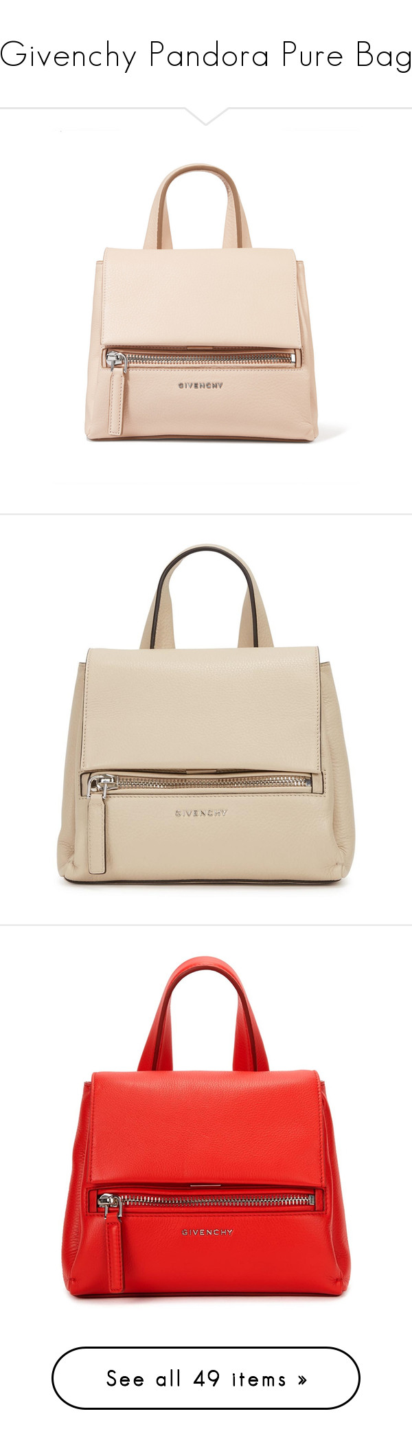 """""""Givenchy Pandora Pure Bag"""" by mungivore ❤ liked on Polyvore featuring bags, handbags, shoulder bags, blush, mini purse, mini shoulder bag, givenchy handbags, top handle purse, cell phone shoulder bag and givenchy shoulder bag"""