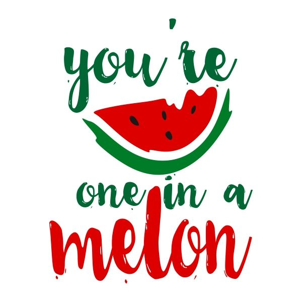 Pin by CuttableDesigns on Food and Drink | One in a melon