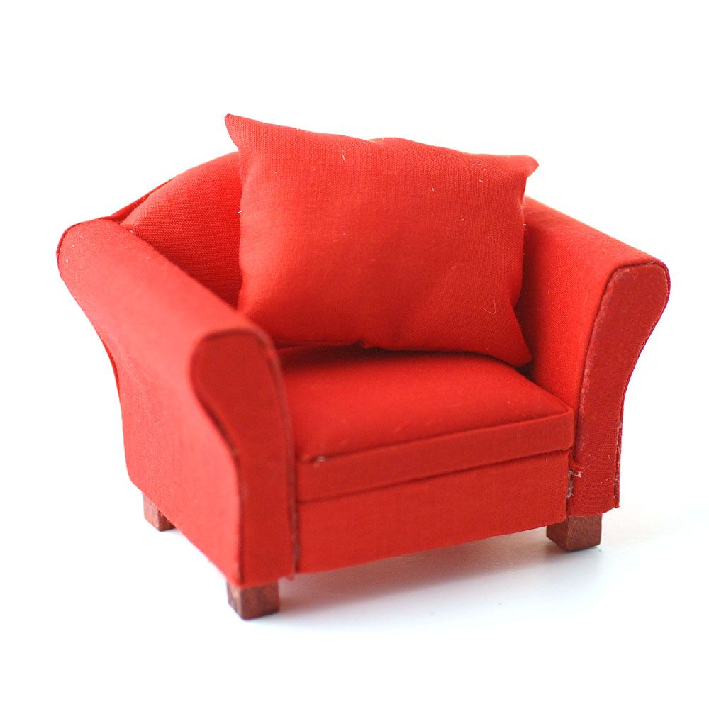 df modern red armchair  audrey dollhouse  pinterest  red  - df modern red armchair