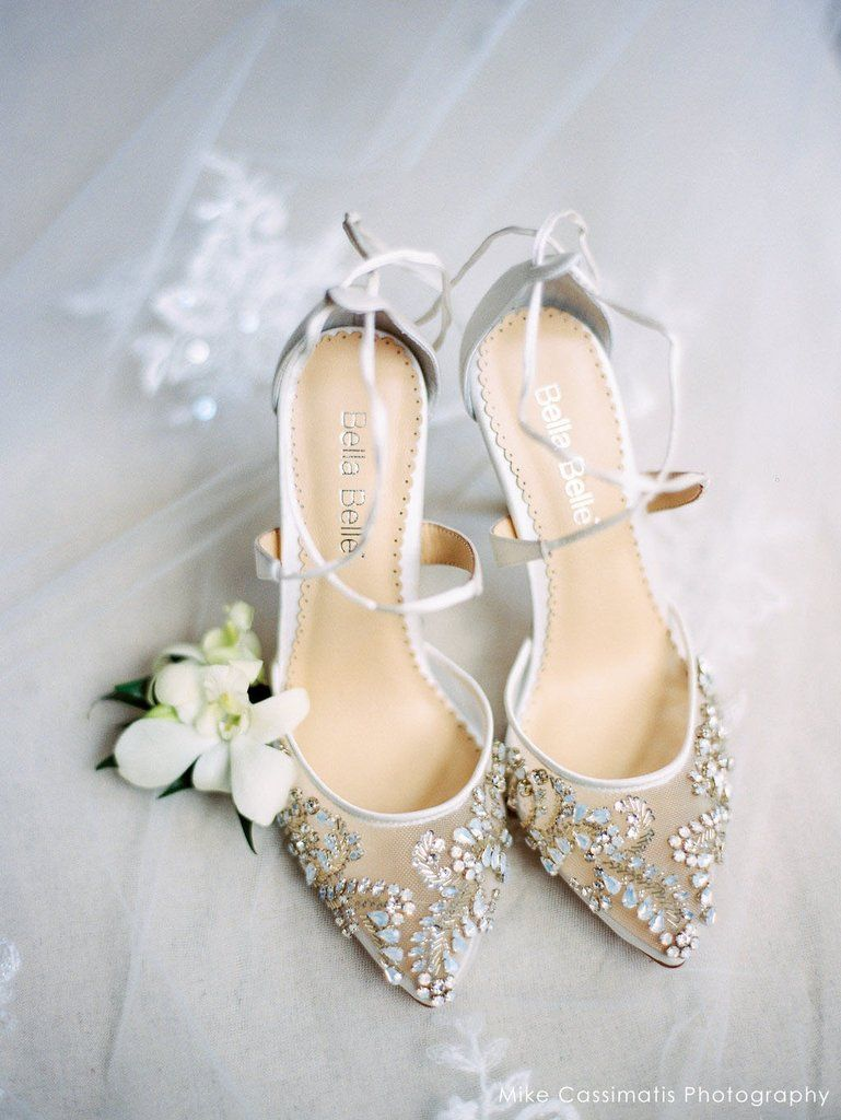 a59b1122c Embellished Ivory Crystal Wedding Heels in 2019