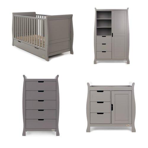 Obaby Stamford Classic Sleigh 4 Piece Nursery Furniture Set Nursery Furniture Sets Nursery Furniture Furniture