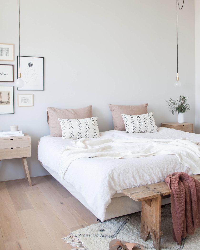 deco chambre blanc bois parquet en 16  Deco chambre blanche