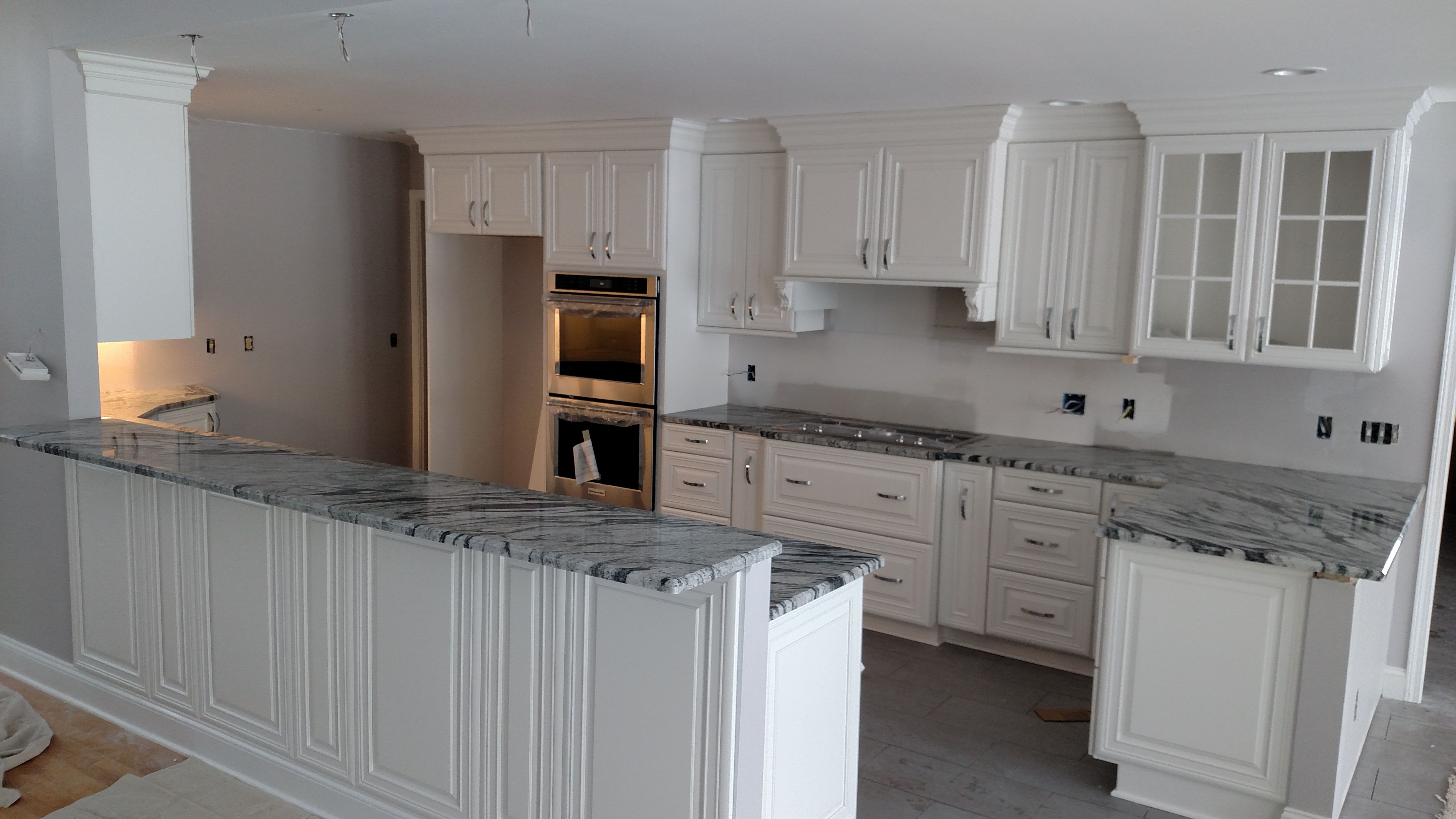 Pictured Here Is Casablanca Granite With Stunning White Cabinets