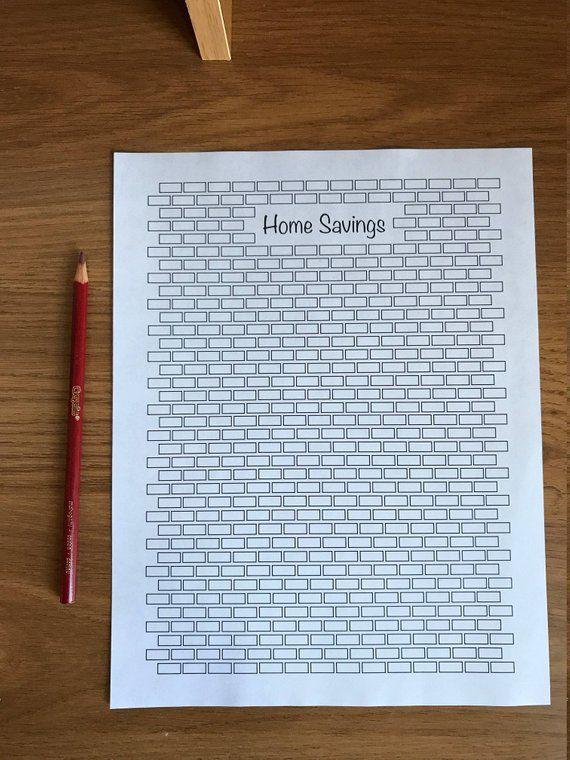 home savings tracker printable coloring sheet