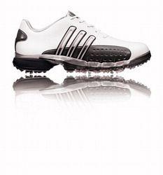 Adidas Golf Adidas banda de potencia Golf zapatos blanco / Silver / negro de adidas