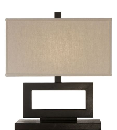 Visual comfort sk3207ai tl suzanne kasler mod low table lamp in aged iron with taupe