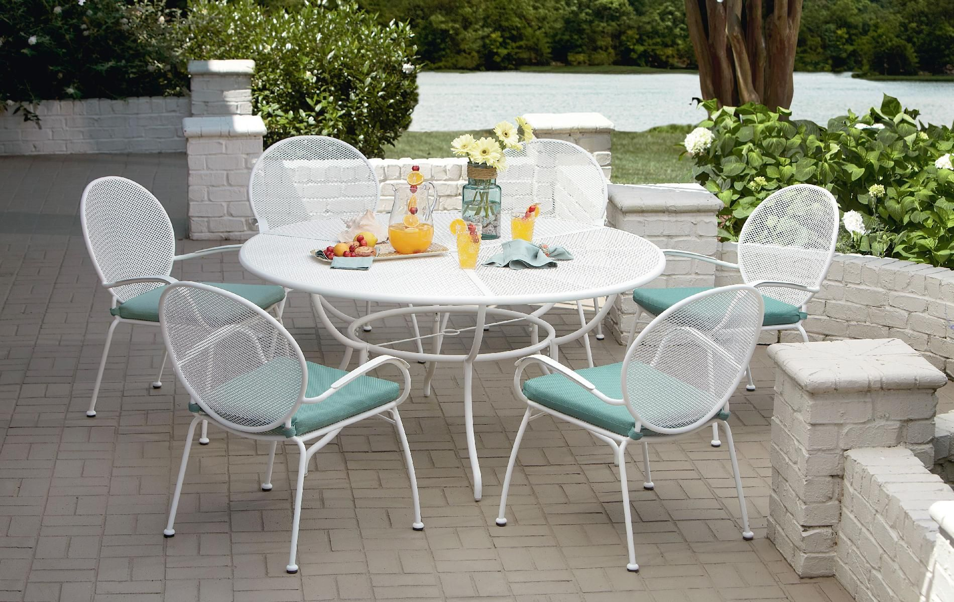 Grand Resort Grand Isle 7pc Commercial Grade Dining Set Outdoor