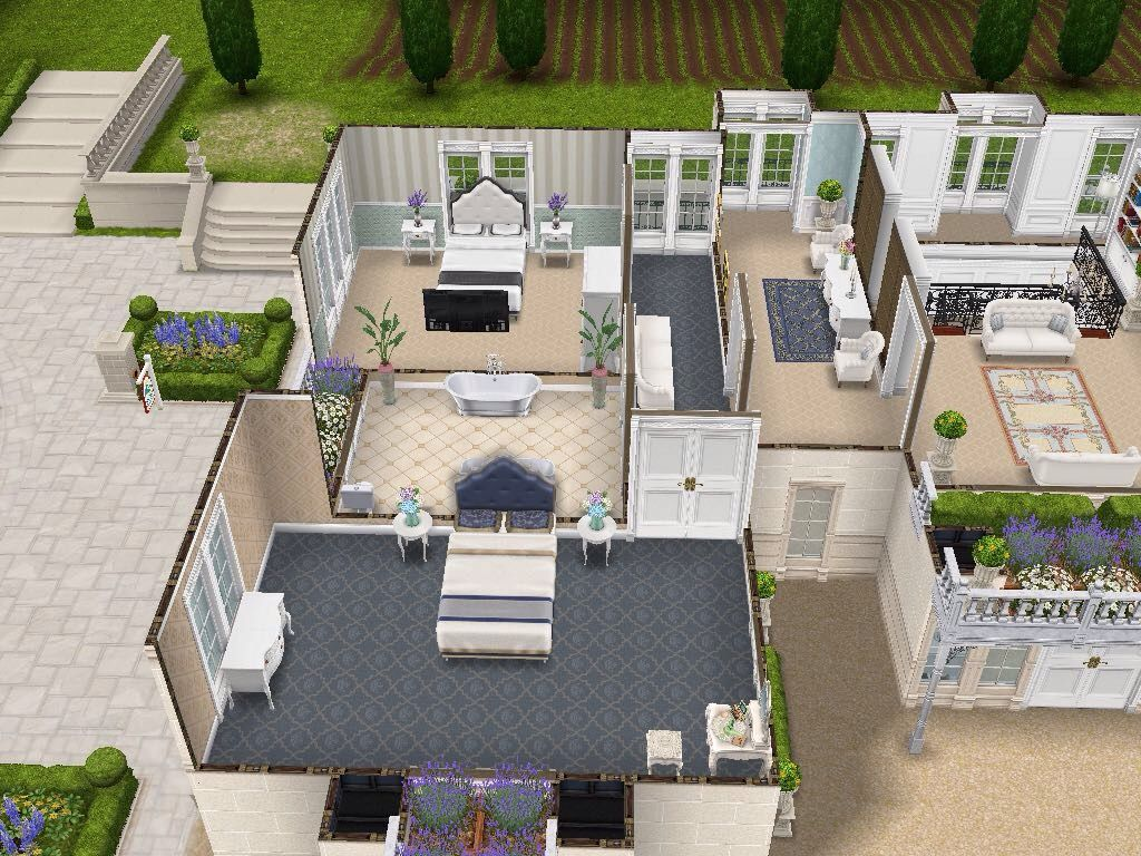 House 108 French Chateau Level 2 Sims Simsfreeplay Simshousedesign Luxury House Plans Sims House Plans Sims Freeplay Houses