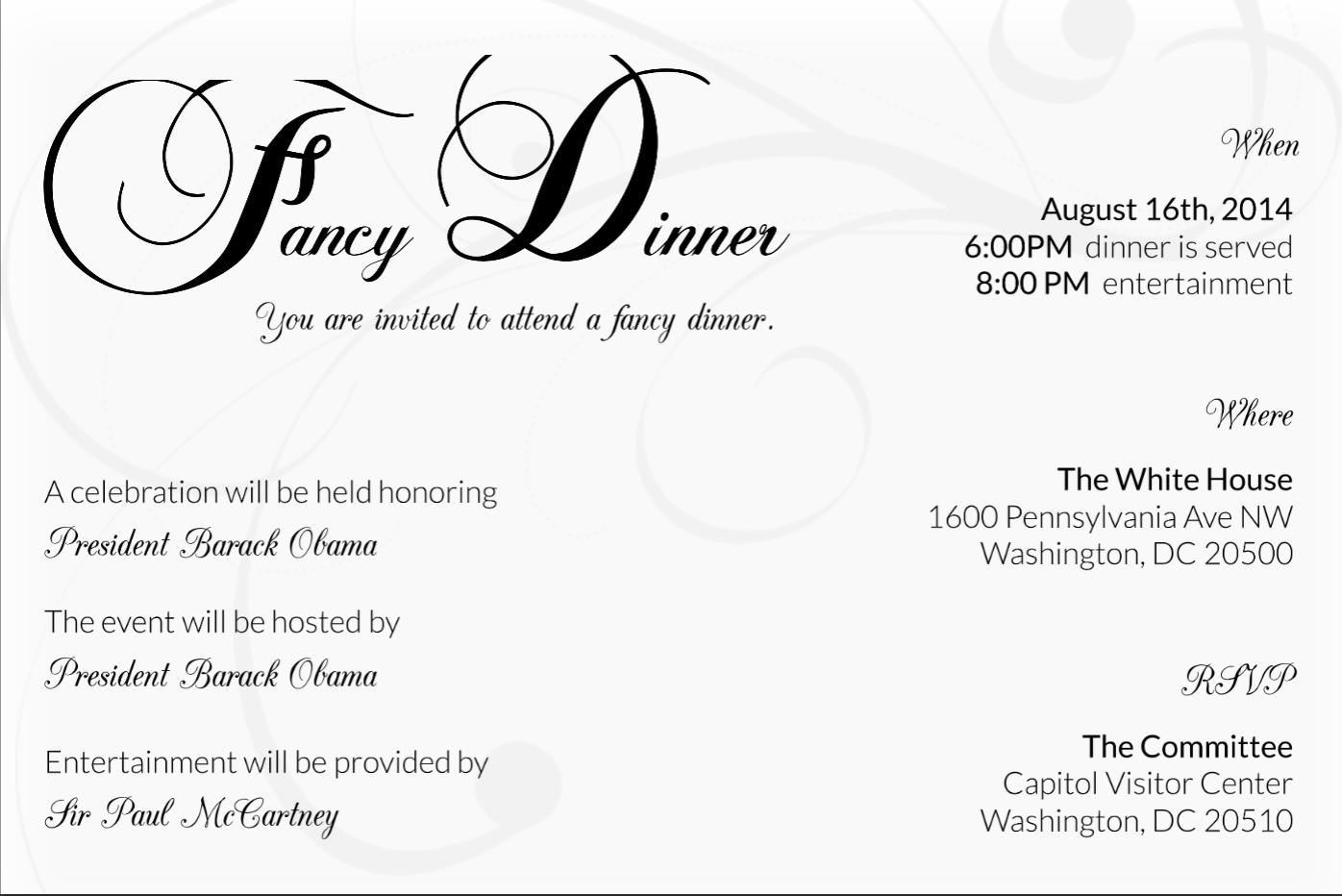 Calligraphy Templates Online Sophisticated Rehearsal Dinner Invitation Template Free