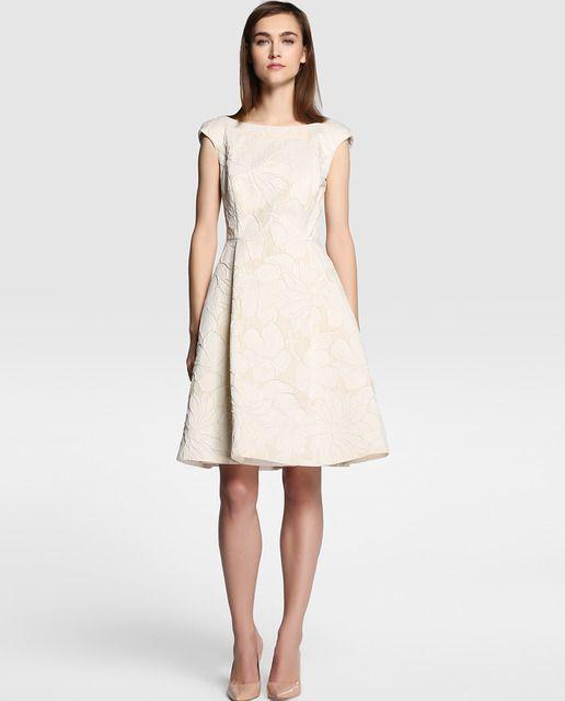 5ffa23967 El corte ingles. 150€ | mi 2 | Vestidos, Vestidos beige cortos y ...