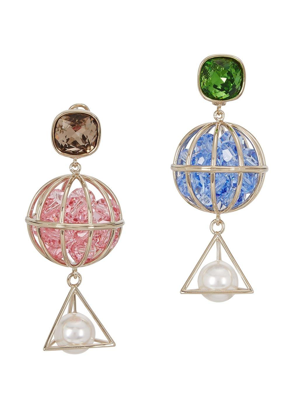 b9781711d5ff2 Atelier Swarovski X Mary Katrantzou Nostalgia drop earrings.  www.italianist.com