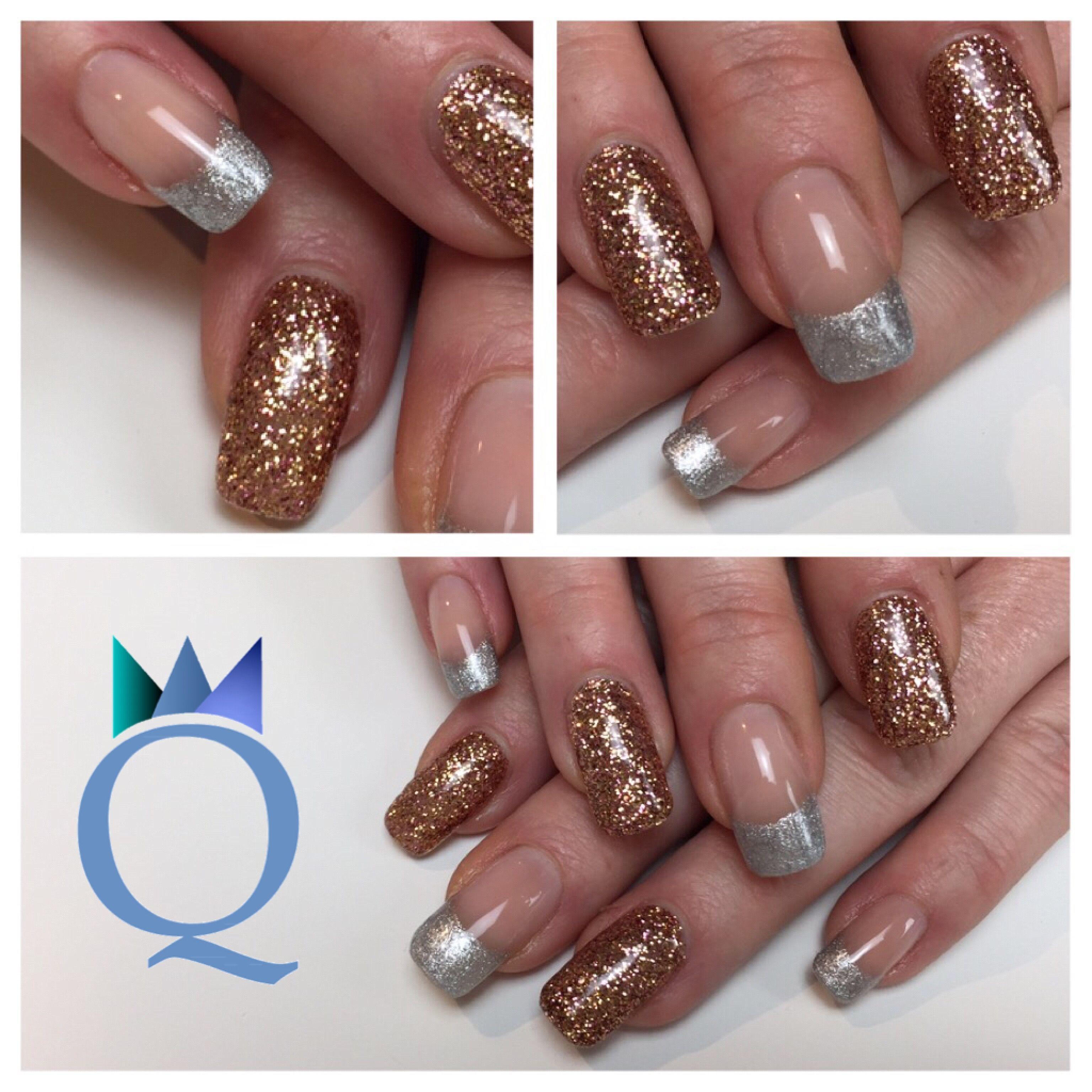 squarenails #acrylicnails #nails #silver #frenchnails #rosegold ...