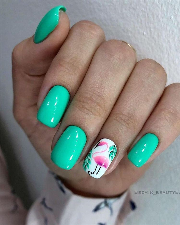 70 Cute Stylish Gel Summer Nails For 2019 With Images Summer Gel Nails Cute Summer Nails Nail Designs Summer