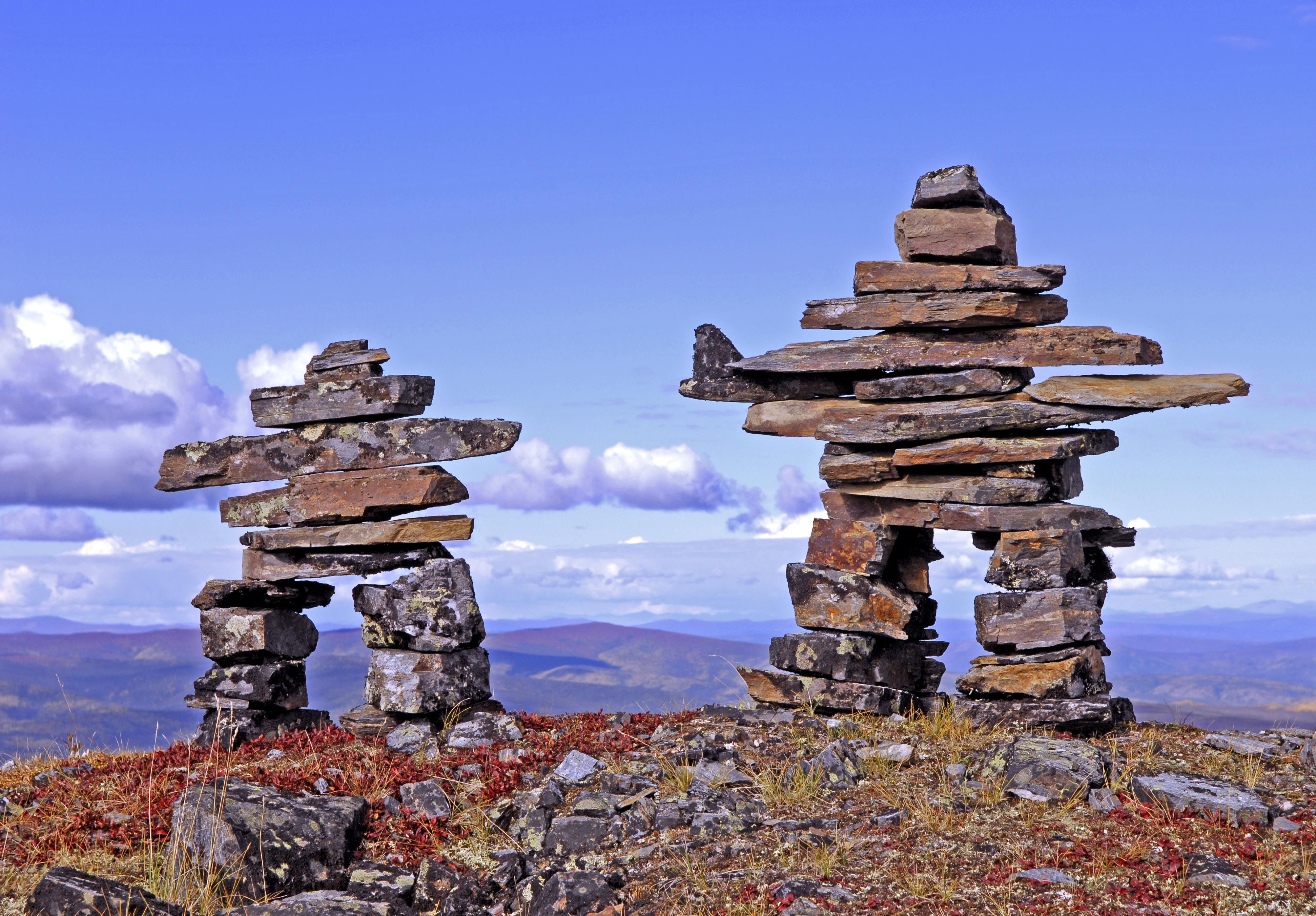 Inukshuk by Marta Eagle Stone cairns, Rock sculpture, Art
