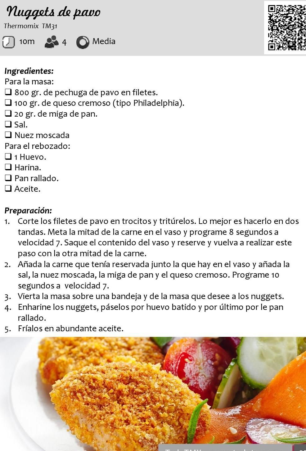 Nuggets de pavo
