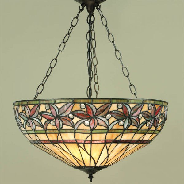 Interiors 1900 ashtead 3 light tiffany style ceiling uplighter in interiors 1900 ashtead 3 light tiffany style ceiling uplighter in autumnal colours interiors 1900 from mozeypictures Images