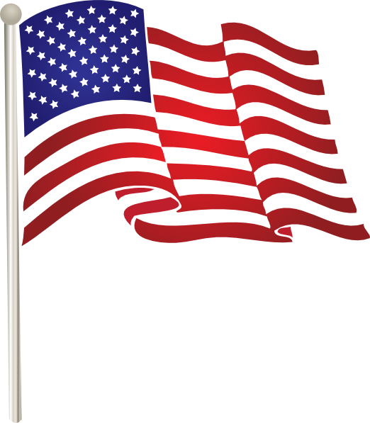 Flag waving. American clip art united