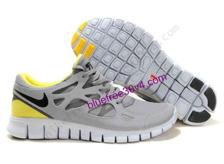the best attitude 6447c 79457 Nike Free Run 2 Shield US Size 8.5 Grey Black Yellow Womens Shoes