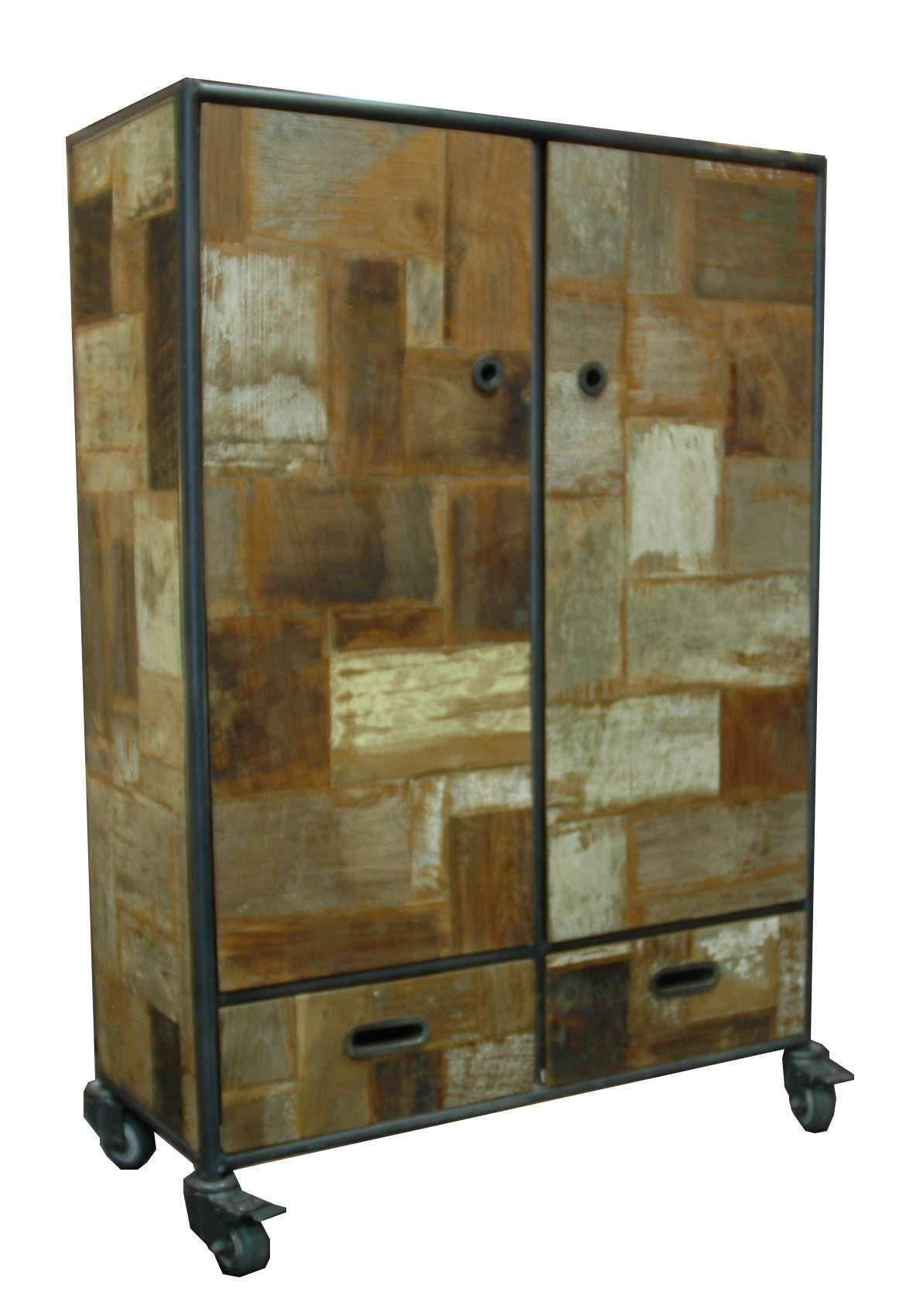 armoire bois recyclé Kaolin boutique - kaonline.fr | Mobilier ...