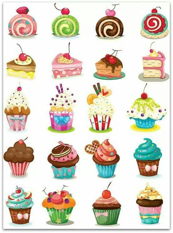 Dolcetti Illustrazioni Cupcake Illustrazione E Disegno Cibo