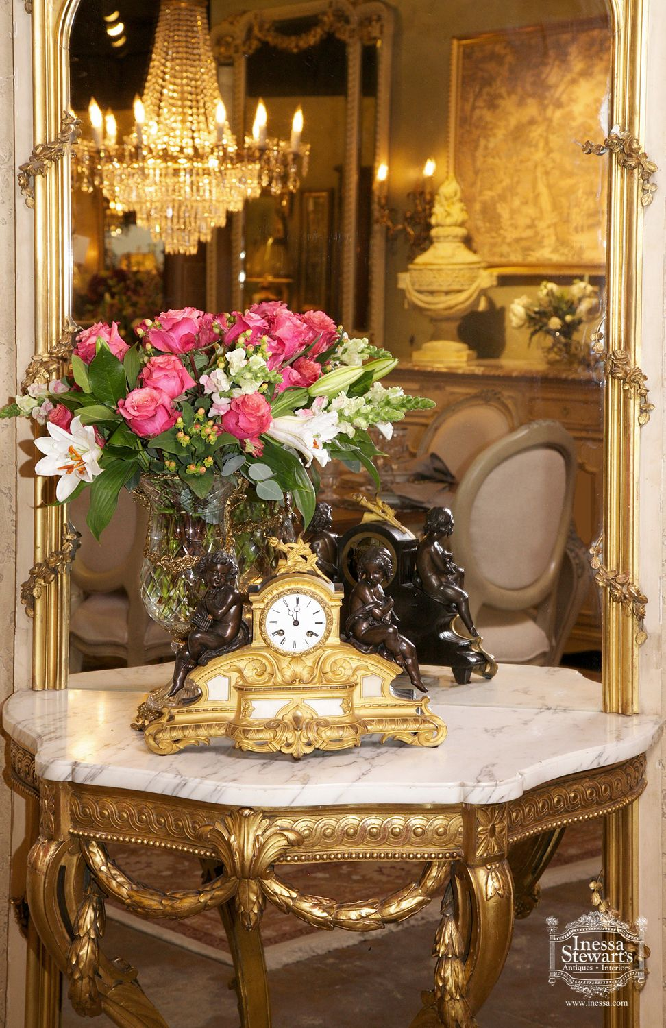 The Romance of the Past, Antique furniture and accessories. Designed by Inessa Stewart.