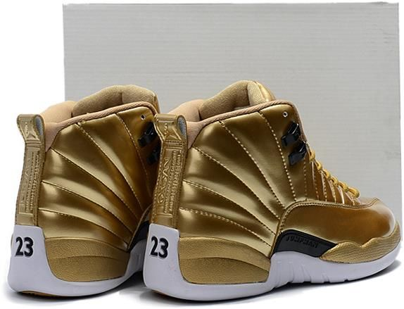 Nike Air Jordan 12 Pinnacle Metallic Gold Men Shoes