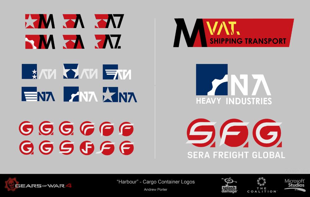 Artstation Gears Of War 4 Logos And Branding Andrew Porter Gears Of War Branding War