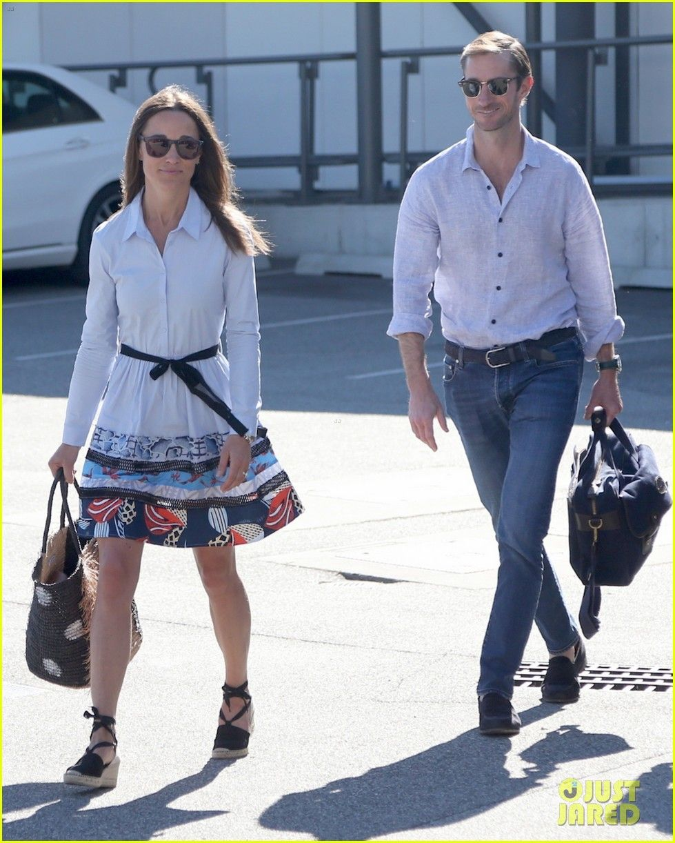 Pippa Middleton and husband James Matthews arrive at Darwin ...