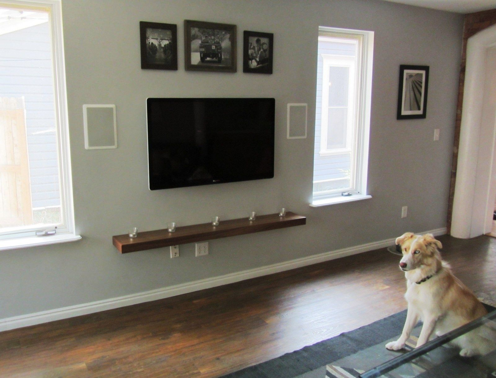 Ideas To Hide Cords From Wall Mounted Tv Wall Mounted Tv Shelves Under Tv Tv Wall