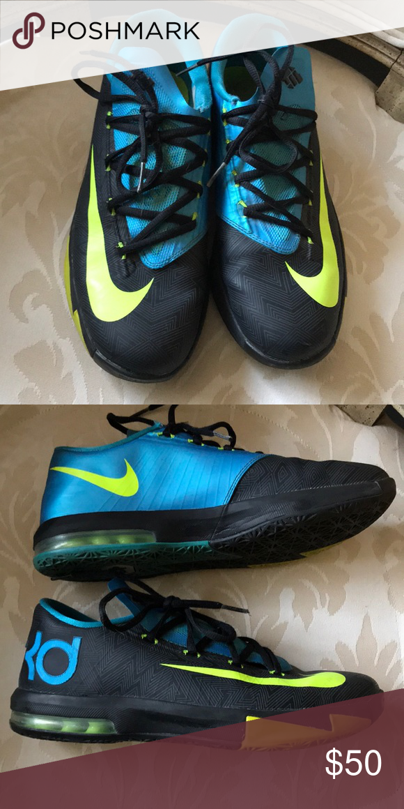 6ceb1a86429 KD 6 Away II 2 Nike Zoom Shoes boys kids green 7 Kevin Durant KD 6 s Gently  worn by my daughter. Still in very good condition. Size 7Y Nike Shoes  Sneakers