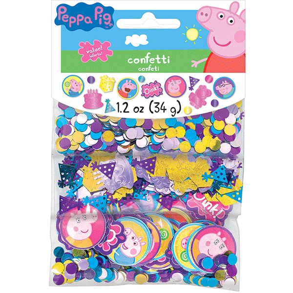 peppa pig confetti value pack 12oz  wally's party