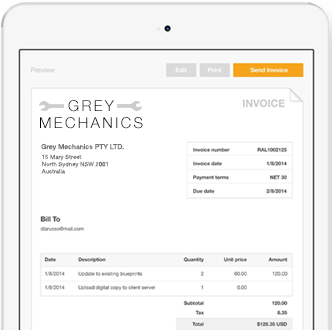 create and send invoices via email paypal australia handy hints