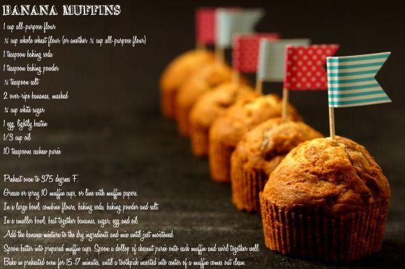 lumo lifestyle: Hävikkiherkku; banaanimuffinit / (Over ripe) banana muffins
