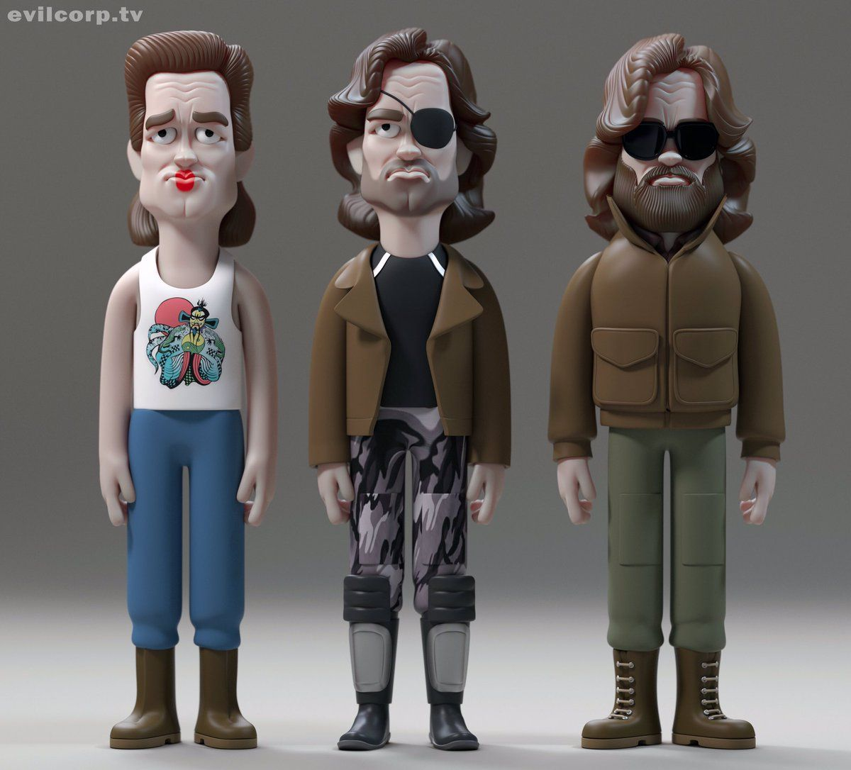 Kurt Russell Vinyl Doll Characters By A Large Evil Corp
