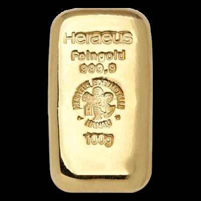 100g Gold Bullion Heraeus Gold Bar Casted Goldankauf Haeger De Gold Und Silber Goldbarren Gold Kaufen