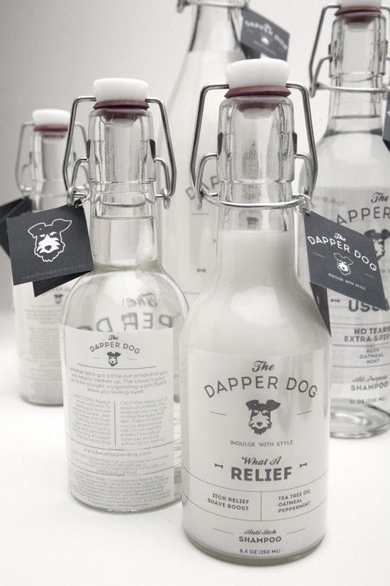 Use bottles like this for homemade dog shampoo.