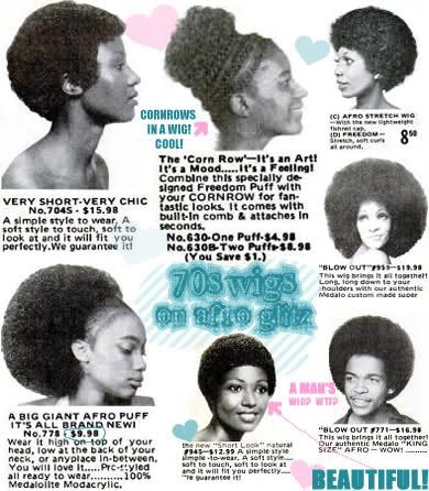 Vintage 70s Afro Wigs Afro Textured Hair 70s Hair Afro