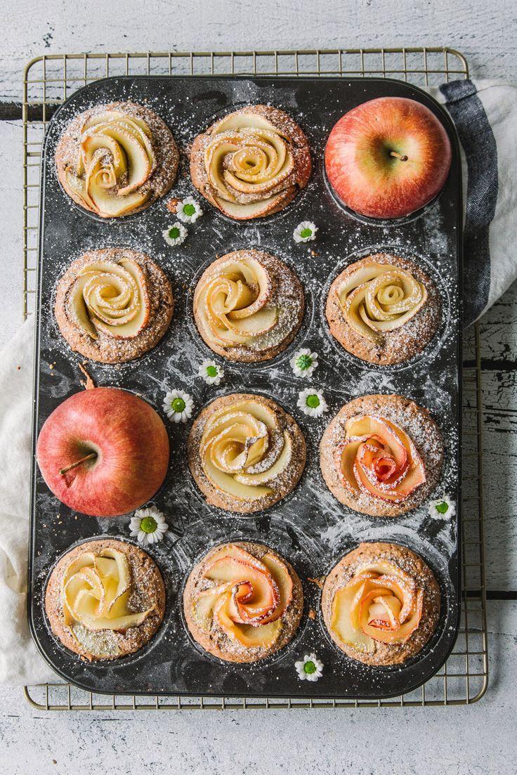Feine Apfelrosen-Muffins