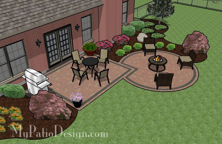 Circle Paver Kit Patio With Fire Pit. My Dream Backyard Patio Designs