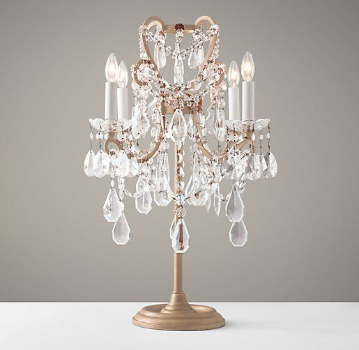 manor court crystal table lamp aged gold vintage with prisms marston bedside bases lamps uk
