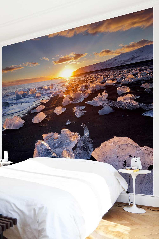 Carta da parati larga - Chunks Of Ice On The Beach Iceland nel 2019 ...