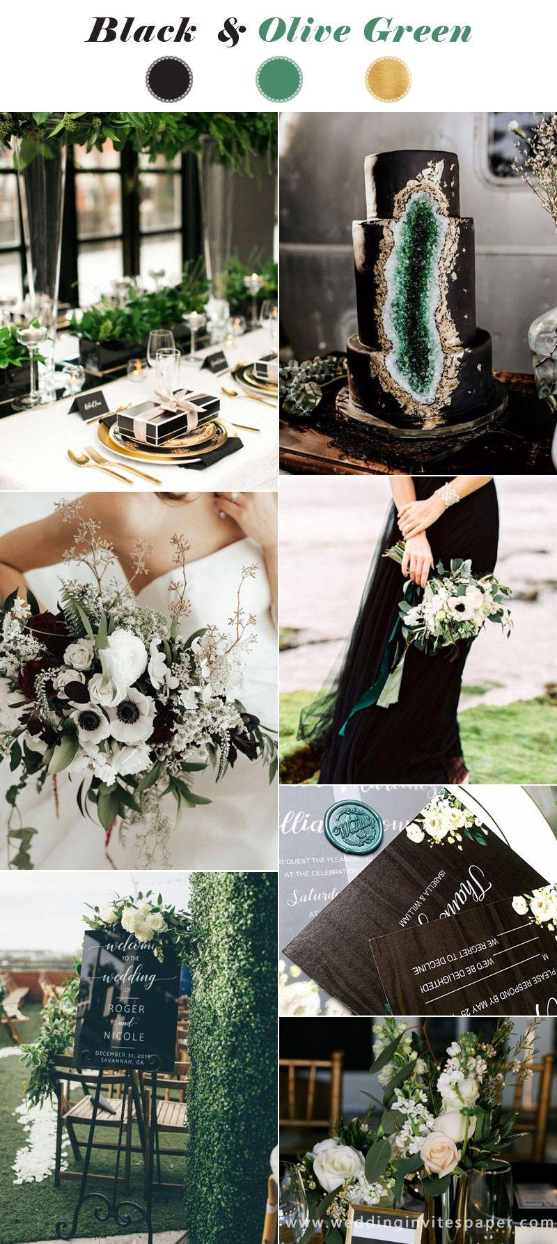 Top 16 Winter Hochzeit Farbpaletten — Black & Green, Vintage Hochzeit Farben, Bo …   – Wedding Ideas