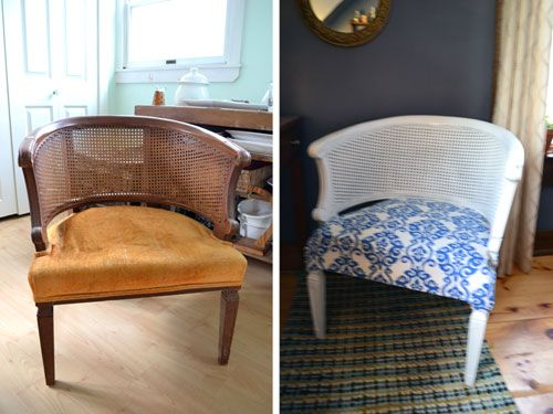 Thrift Store Chair Makeover Before And After Transforming