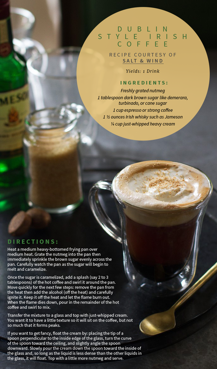 Irish coffee anyone? Check out a delicious sip of the