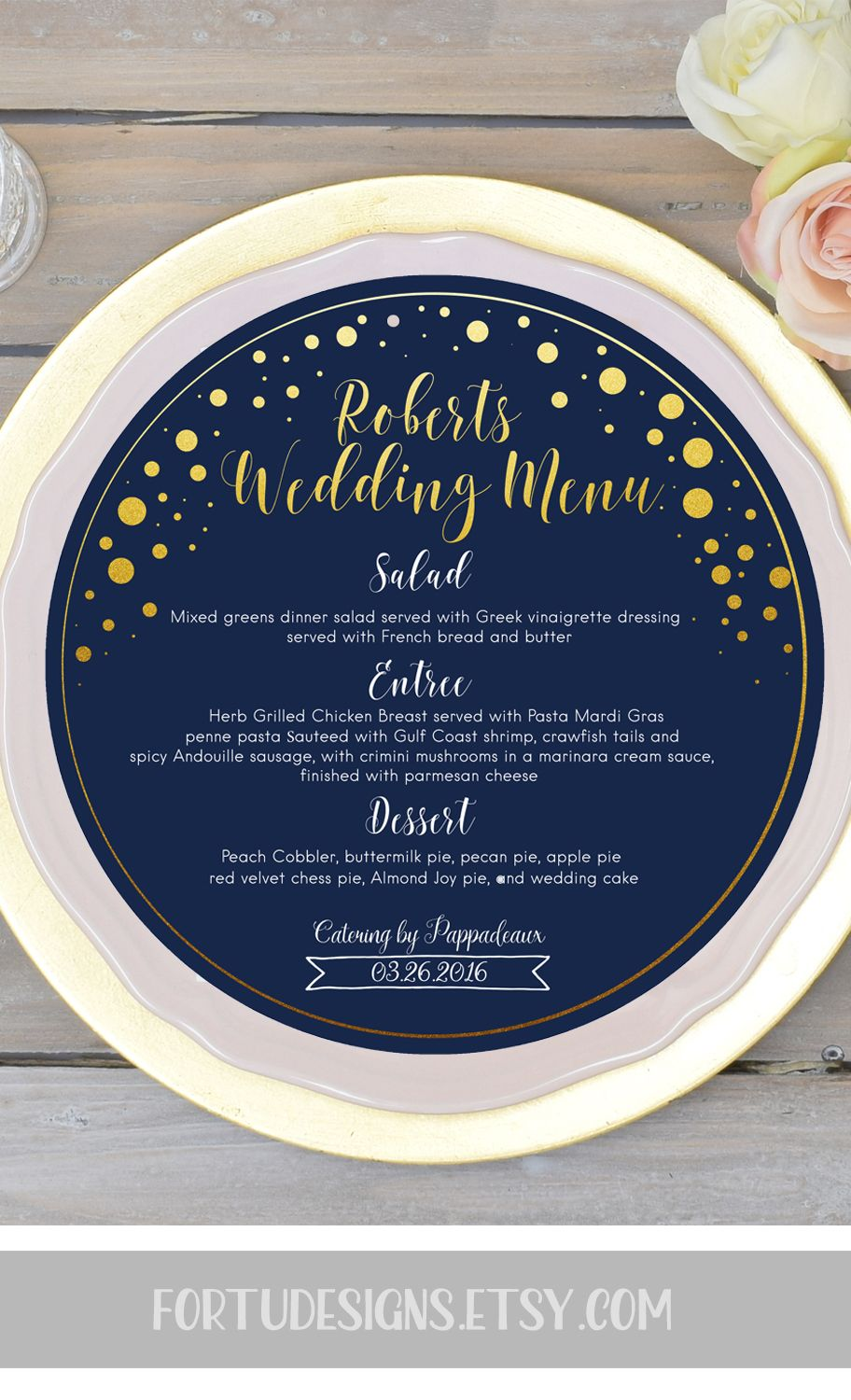 graphic about Printable Menu Card referred to as Gold armed forces marriage menu card meal menu playing cards printable menu